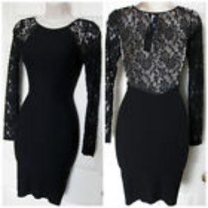 Bebe body-con lace dress XS